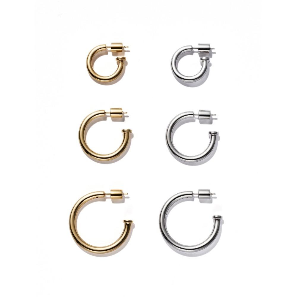 Basic Hoop Earring / Single(Plain)