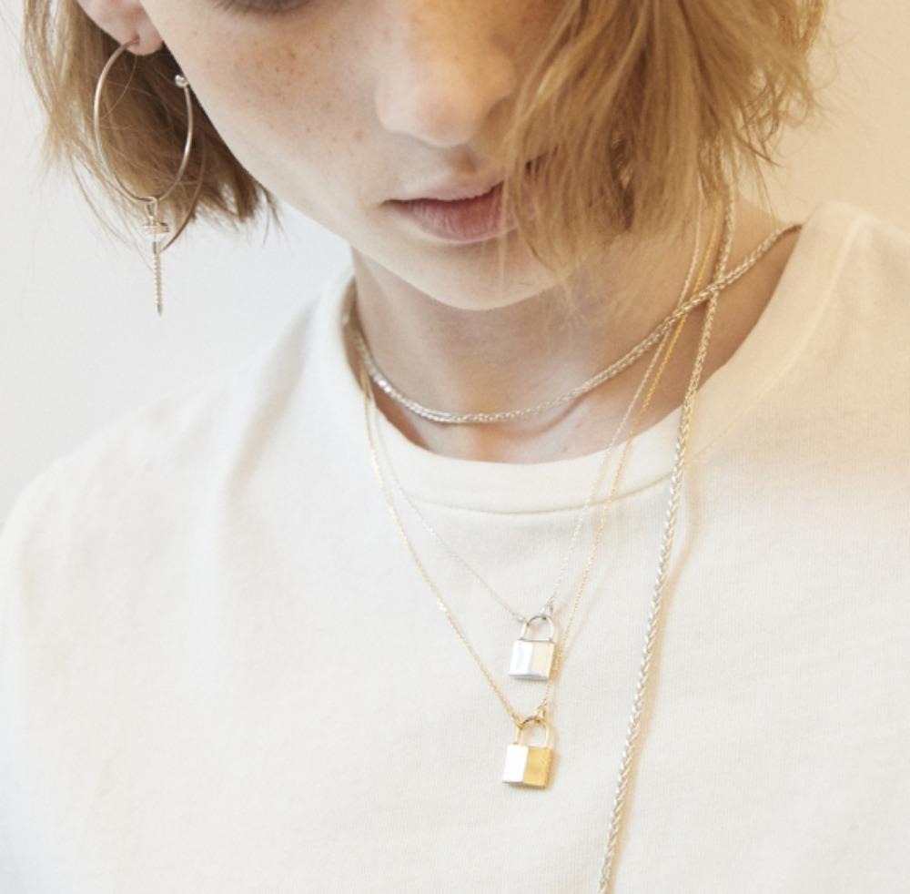 Clean Padlock Necklace