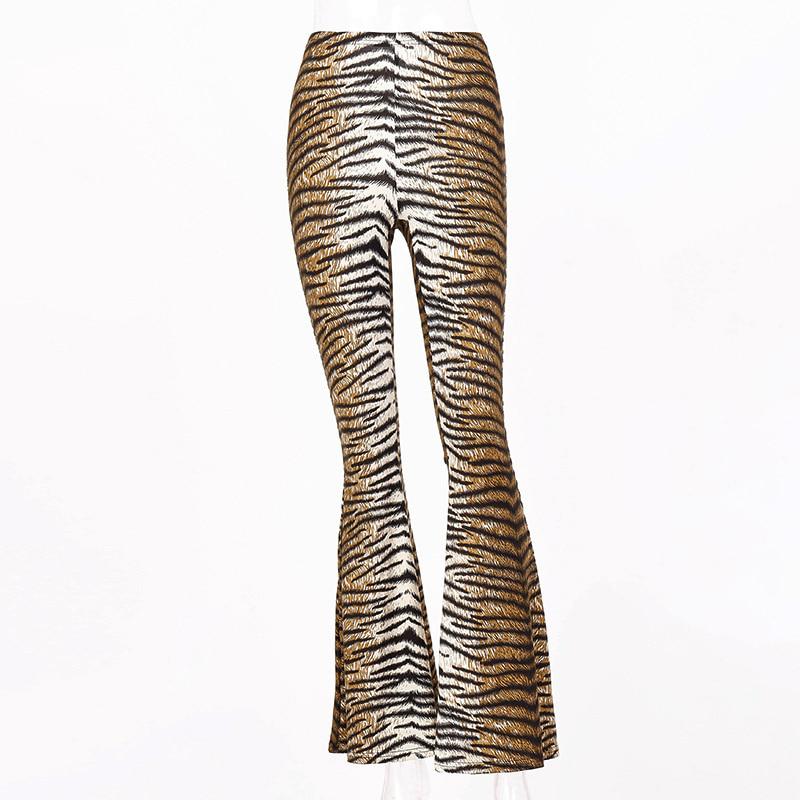 블랙피치,(SALE) Tiger Printed Bootscut Pants (당일발송가능)