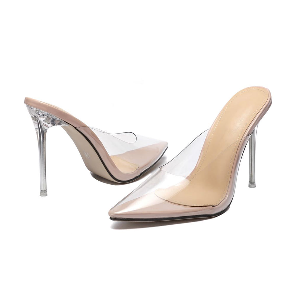 Nude Clear Mules