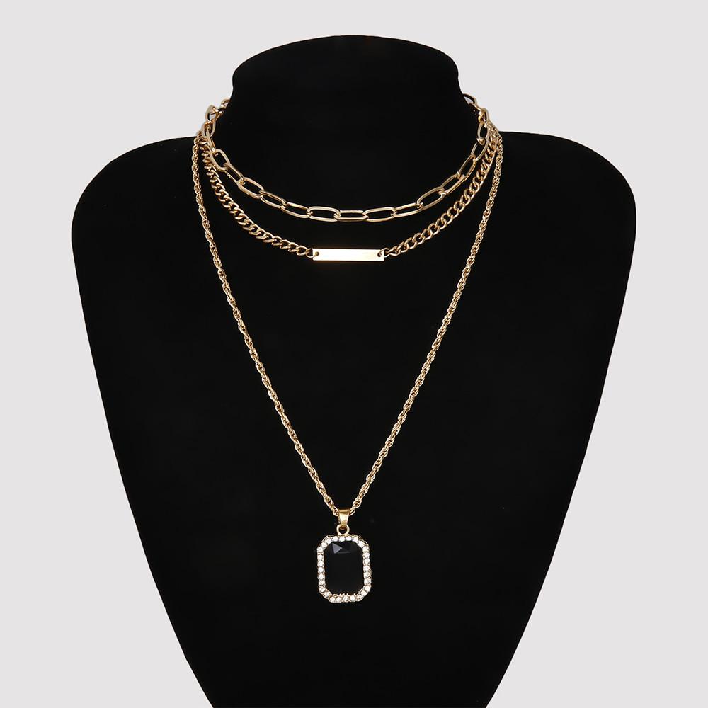 Jet Black Necklace Set (당일발송가능)