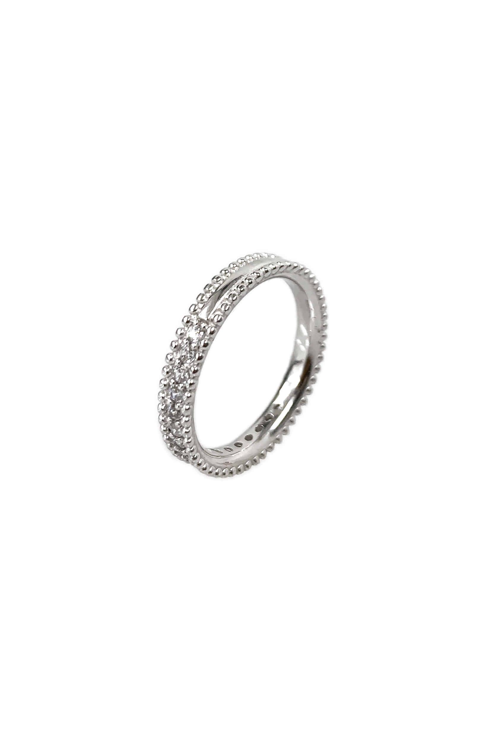 [silver925] 가드너 하프 큐빅 반지