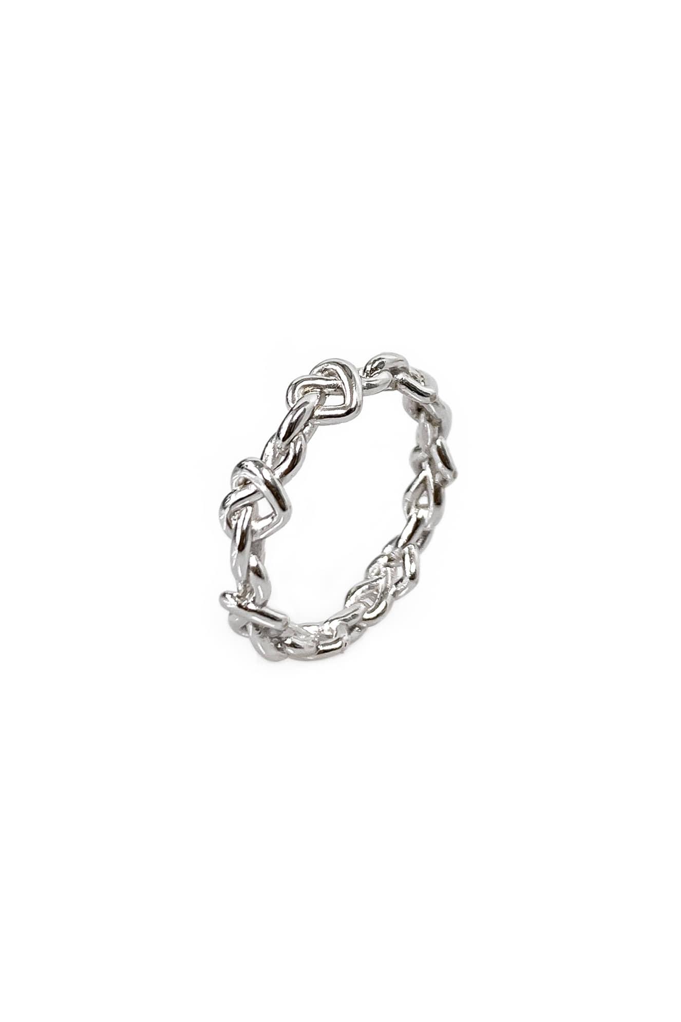 [silver925] 미니 꼬임 하트 반지