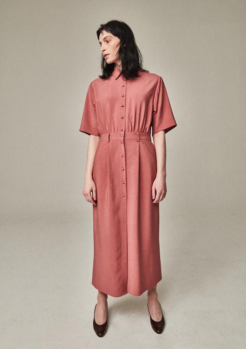 PAINTER DRESS - MARSALA