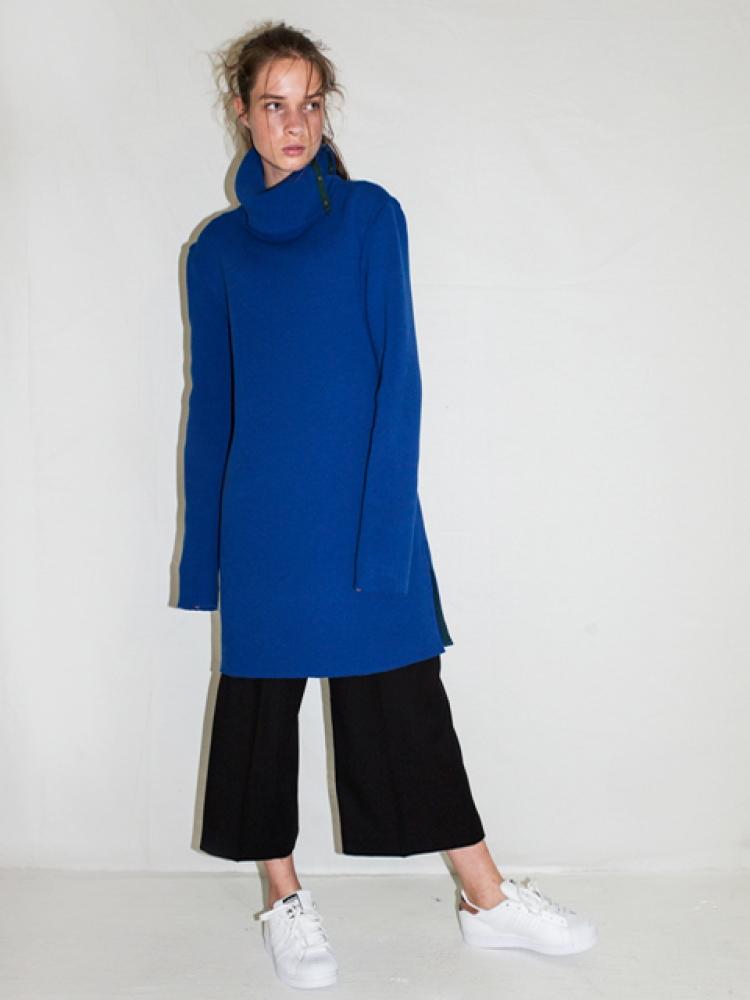 KNIT DRESS - BLUE