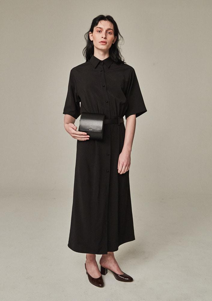 PAINTER DRESS - BLACK