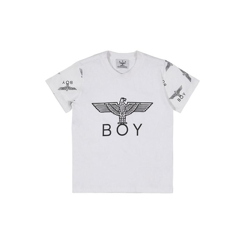 韩国 BOY LONDON 官方网站自主品牌[KIDS] EAGLE BOY REPEAT SLEEVE T-SHIRT