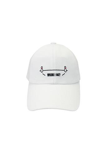 [17 S/S] SPLIT BALLCAP (WHITE)
