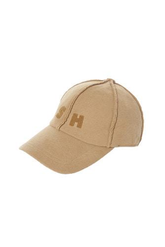 [17 F/W] SKULLHONG INITIALS BALL CAP (LIGHT BROWN)