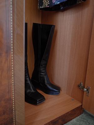 (freckle made♥)platform leather boots