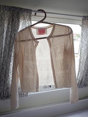 (freckle made♥)vintage button crochet cardigan