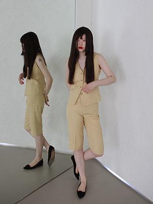 (freckle made♥)primrose yellow half pants