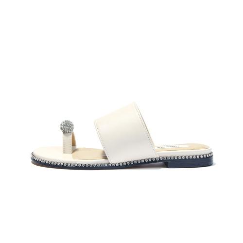 브리아나 Briana [리얼미프로모션] Jewel Sandal_Cream Ivory