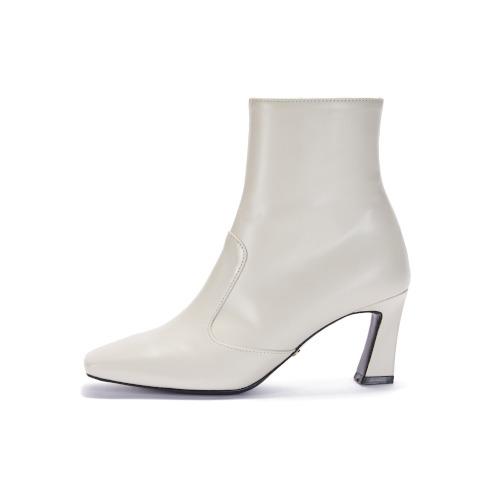 브리아나 Briana Block Ankle Boots_Cream
