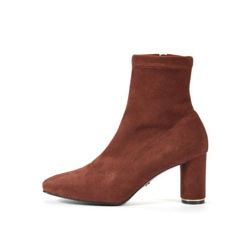 브리아나 Briana [Real Me 20% OFF] Round Heel Span Boots_Brick Suede