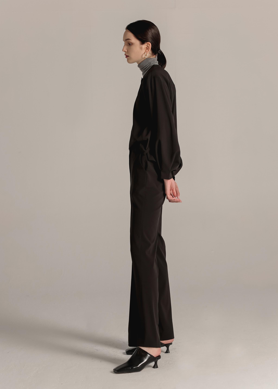 BASIC STRAIGHT PANTS (BLACK)