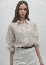 BELTED COWL NECK BLOUSE (PEACH)