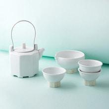 백자 자개 탕관 3인SETCeramic mother-of-pearl teapot SET