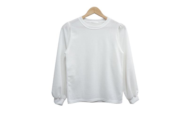 長袖Tシャツ ホワイト 商品カラー画像-S1L6