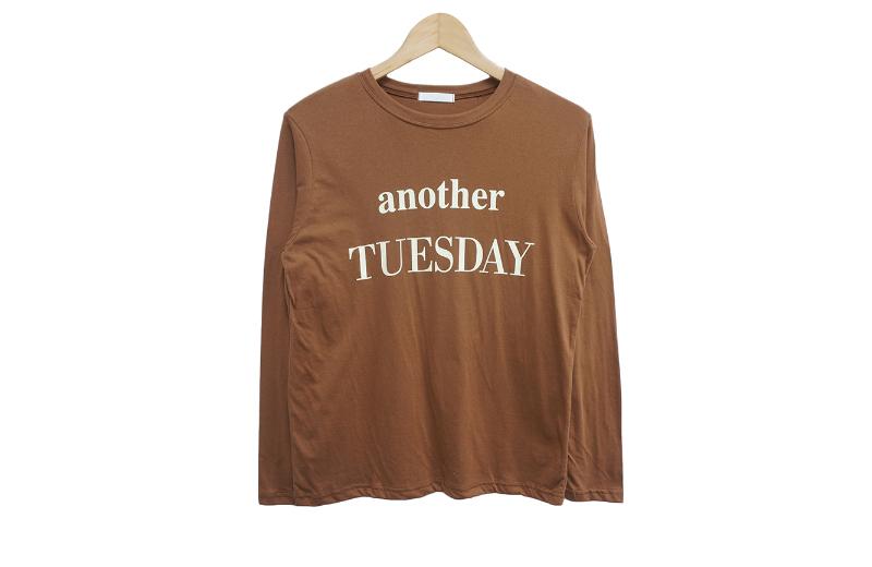 長袖Tシャツ ブラウン 商品カラー画像-S1L9