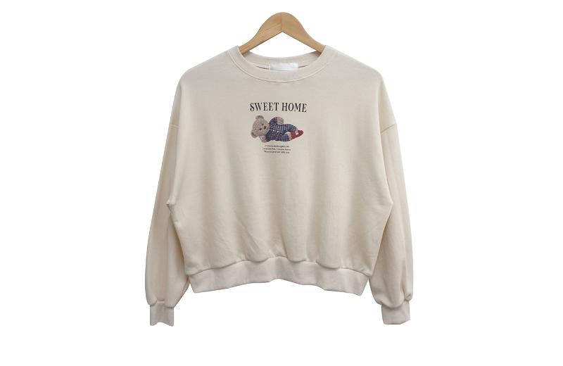 長袖Tシャツ クリーム 商品カラー画像-S1L6