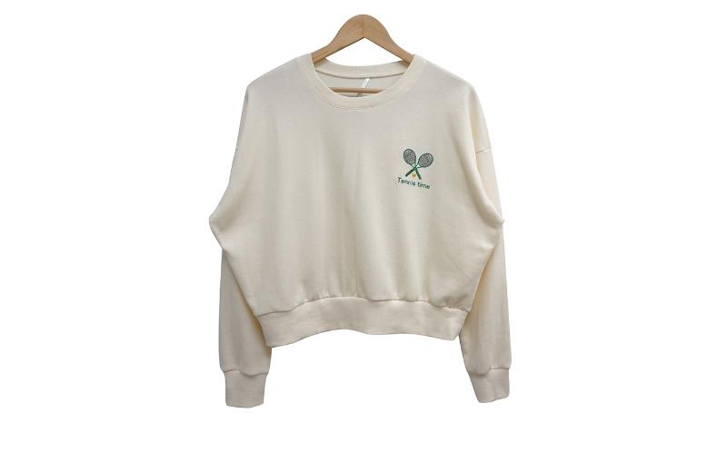 長袖Tシャツ クリーム 商品カラー画像-S1L10