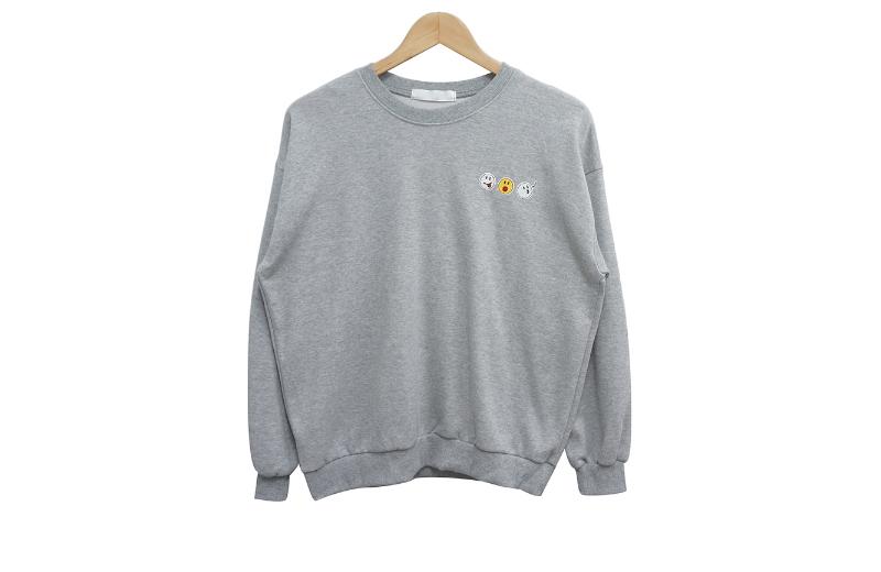 長袖Tシャツ グレー 商品カラー画像-S1L12