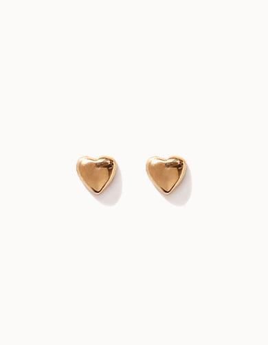 G0179 10K&14K 골드 미니하트 귀걸이