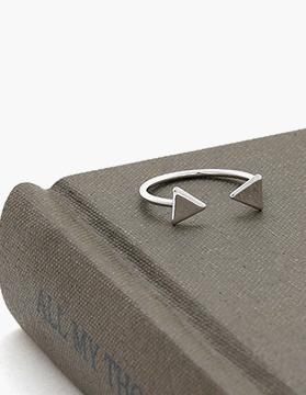 R0354  삼각형 대칭 오픈형 마디 반지