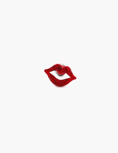 M01921 입술모양 큐빅 피어싱