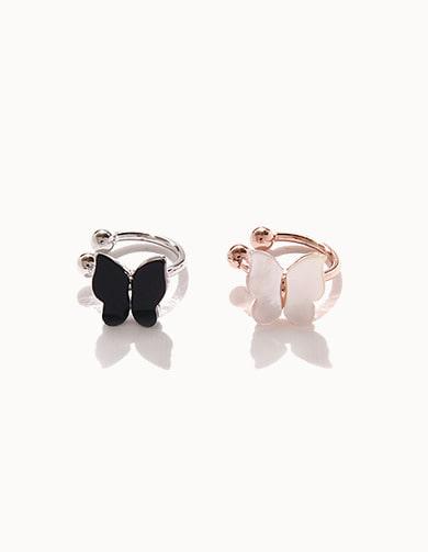 M02932 미니 자개 나비 데일리 이어커프 (2 Colors)