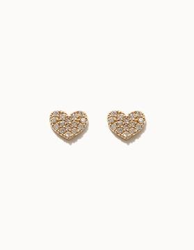 G0101 10K&14K골드 큐빅하트 귀걸이