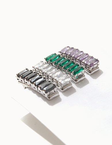 제이로렌 H0591 루체 포인트 미니 집게핀 (4 Colors) [화이트집게핀,퍼플집게핀,블랙집게핀,그린집게핀,잔머리집게핀,여름집게핀,집게핀핀,미니집게핀]