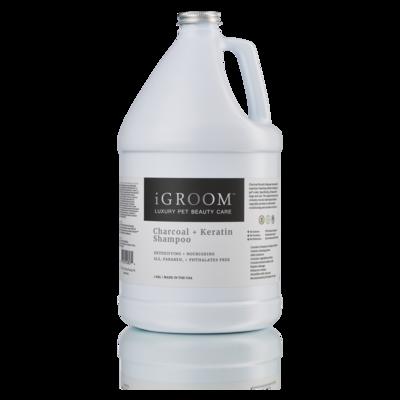 [아이그룸] 차콜+케라틴 샴푸 1gal-3.78L 무화과향 전견종 털관리 저자극 유해물질흡수