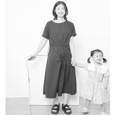[wewedogdress] 애견미용 원피스 미용가운 유니폼 털안붙는옷