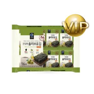 [VIP추가할인템] 청정원_올리브유 재래김 16팩 (5.2g*16)