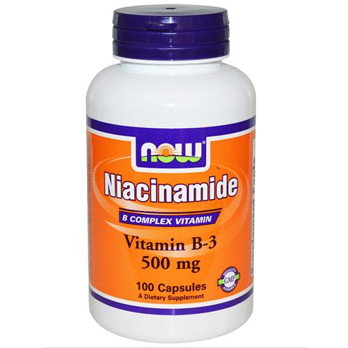 Now Foods 나우 푸드 -  Niacinamide (Vitamin B3) 500mg 100C 나이아시나마이드(비타민 B3) 100 캡슐
