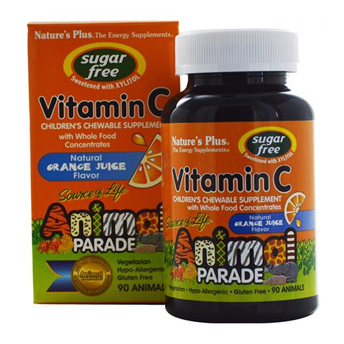 Nature's Plus Animal Parade Sugar Free Vitamin C Chews 90CT