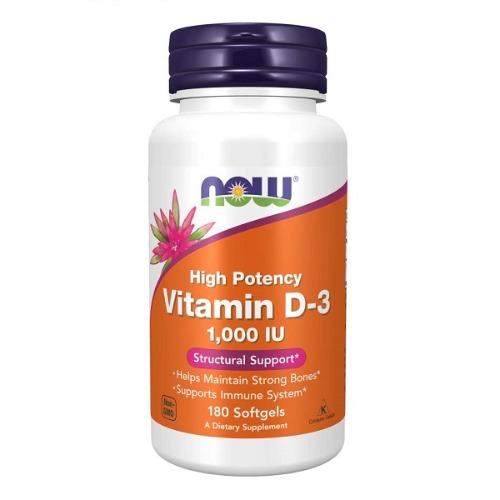 Now Foods - Vitamin D3 1000IU 180gels  - 나우 푸드 -비타민 D3 1000IU -180젤