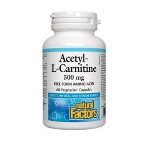 네츄럴 팩터스 - 아세틸엘카르니틴 Acetyl-L-Carnitine (ALC) 500mg 60vcap