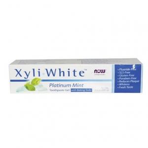 Now Foods - Xyliwhite Platinum Mint Toothpaste/Gel w/baking soda - 나우 푸드 - 자일리화이트 플라티늄 민트 치약 +베이킹소다  - 181g