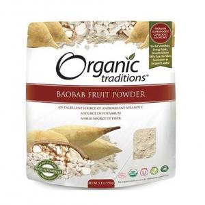 Organic Traditions - Baobab Fruit Powder - 올가닉 트레디션 - 바오밥 열매 가루 - 150g