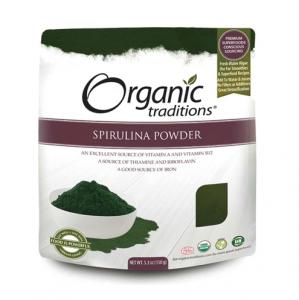 Organic Traditions - SPIRULINA POWDER   - 올가닉 트레디션 -  스피룰리나 가루 - 150g