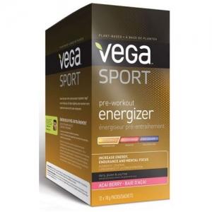 Vega Sport Pre-Workout Energizer Acai Berry 베가 스포츠 운동전 마시는 에너자이저 아사이 베리 맛 12 x 18g