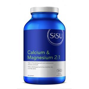 SISU - 시수 CALCIUM & MAGNESIUM 2:1 WITH D2 (칼슘&마그네슘 2:1, D2) 180정