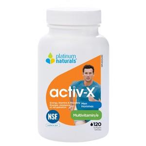 Platinum Natural - ACTIV-X MEN (남성용 종합비타민) 120소프트젤