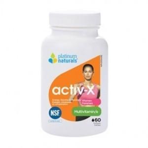Platinum Natural - ACTIV-X WOMEN (여성용 종합비타민) 60소프트젤