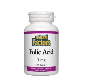 엽산 Folic Acid 1mg 180정 네추럴팩터스