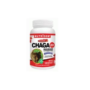 (뉴트리돔) 차가버섯 20배 고농축 분말 캡슐형 500mg 120정(Nutridom Chaga 20X)