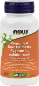 Now Foods - Pygeum & Saw Palmetto 25/80mg 60 softgels